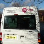 mencap minibus rear
