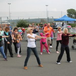 A Zumba warm up for the walkers and pushers